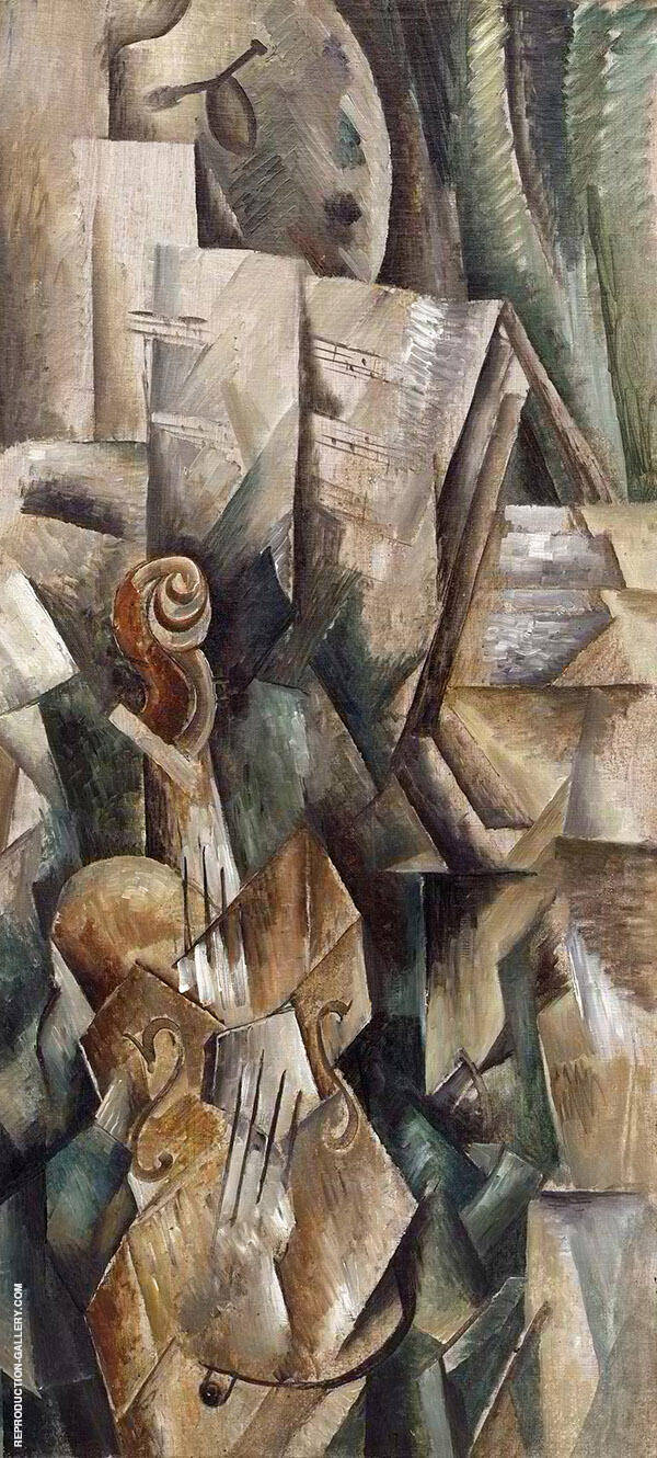 Violin and Palette By Georges Braque
