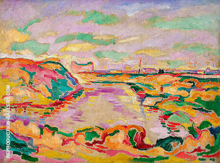 Landscape near Antwerp By Georges Braque - Oil Paintings & Art Reproductions - Reproduction Gallery