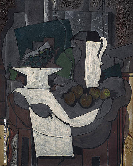 The Bowl of Grapes 1926 By Georges Braque