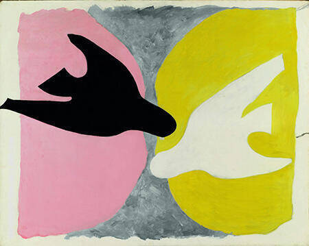 Black Bird and White Bird (L'Oiseau Noir et l'Oiseau Blanc) By Georges Braque