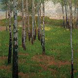 Birch Grove at Dusk By Carl Moll