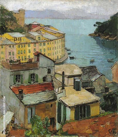 Portofino c1928 By Carl Moll - Oil Paintings & Art Reproductions - Reproduction Gallery