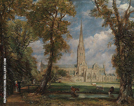 Salisbury Cathedral from the Bishop's Grounds By John Constable - Oil Paintings & Art Reproductions - Reproduction Gallery