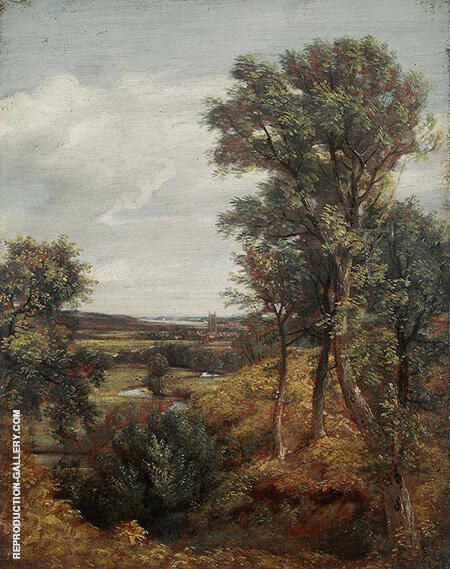 Dedham Vale 1802 By John Constable - Oil Paintings & Art Reproductions - Reproduction Gallery
