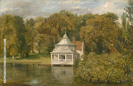 The Quarters behind Alresford Hall 1816 By John Constable