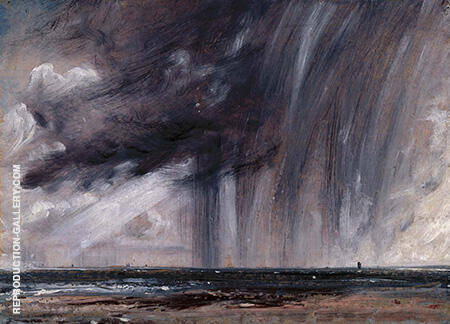 Seascape Study with Rain Cloud 1824 By John Constable
