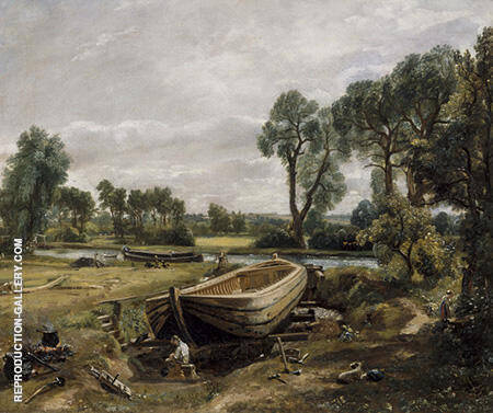Boat-building near Flatford Mill 1815 By John Constable