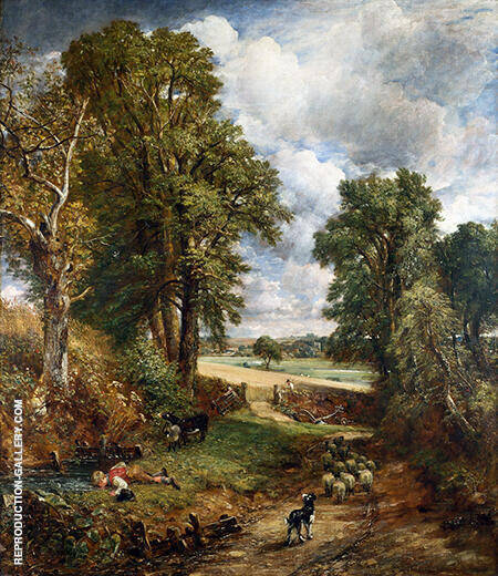 The Cornfield 1826 Painting By John Constable - Reproduction Gallery