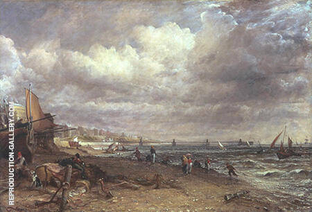 Chain Pier Brighton 1827 Painting By John Constable - Reproduction Gallery