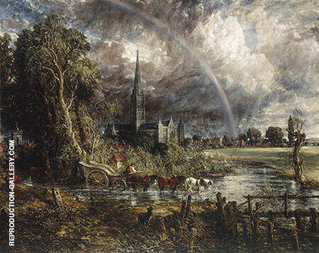 Salisbury Cathedral from the Meadows 1831 By John Constable - Oil Paintings & Art Reproductions - Reproduction Gallery