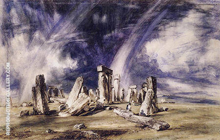 Stonehenge 1835 By John Constable - Oil Paintings & Art Reproductions - Reproduction Gallery