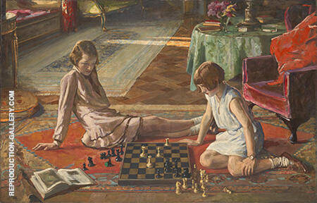 The Chess Players 1929 By John Lavery