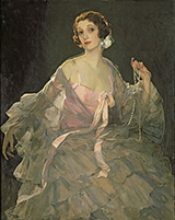 Hazel in Rose and Grey 1922 By John Lavery