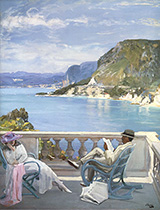 On the Riviera By John Lavery