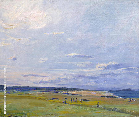 The Golf Course North Berwick 1922 Painting By John Lavery