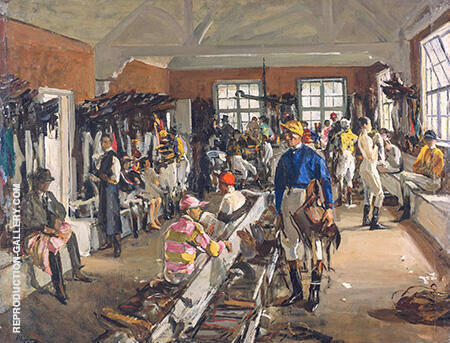 The Jockeys Dressing Room at Ascot 1923 By John Lavery