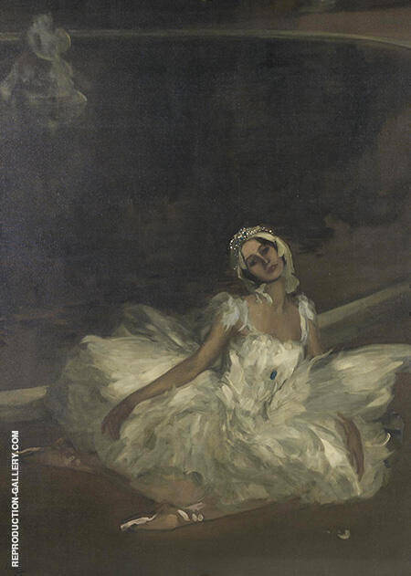 Le Mort du Cygne Anna Pavlova 1911 By John Lavery - Oil Paintings & Art Reproductions - Reproduction Gallery