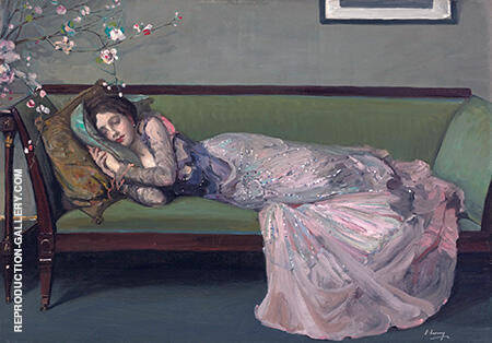 The Green Sofa By John Lavery
