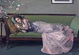 The Green Sofa By John Lavery