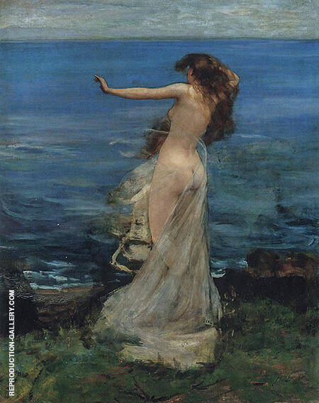 Ariadne c1886 By John Lavery - Oil Paintings & Art Reproductions - Reproduction Gallery