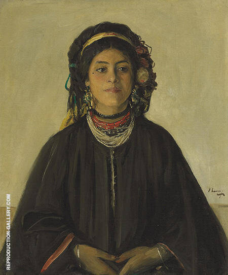 Aida, a Moorish Maid Painting By John Lavery - Reproduction Gallery