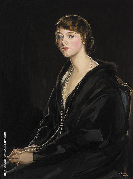 Mrs E. Bowen-Davies By John Lavery - Oil Paintings & Art Reproductions - Reproduction Gallery