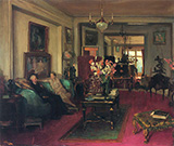 A Salon Lady Cunard and John Moore By John Lavery