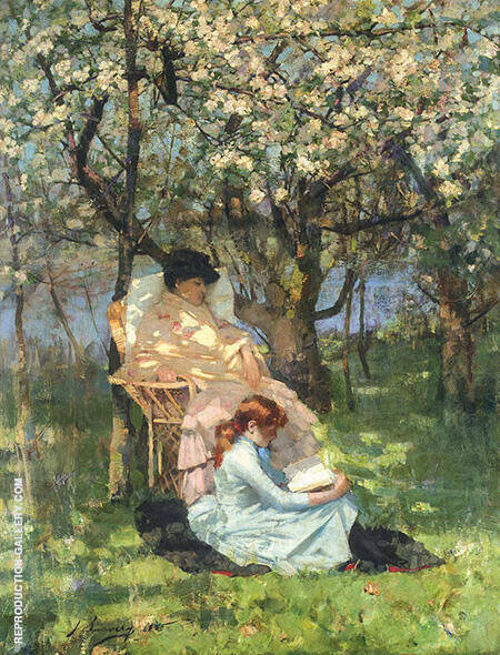 Convalescence in the Apple Orchard By John Lavery