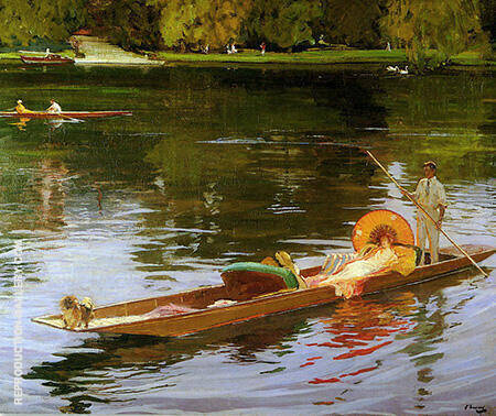 Boating on the Thames 1890 By John Lavery