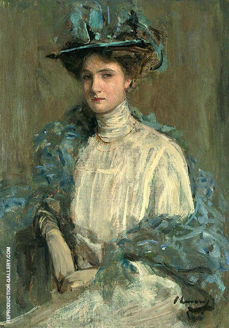 Portrait of a Lady in Blue By John Lavery