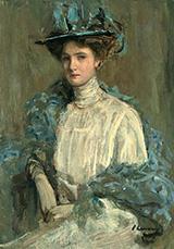 Portrait of a Lady in Blue By John Lavery