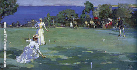 The Croquet Party 1890 By John Lavery - Oil Paintings & Art Reproductions - Reproduction Gallery