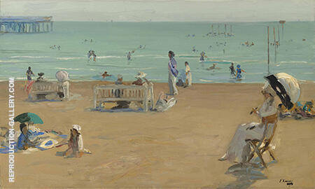 The Bathing Hour Lido Venice By John Lavery