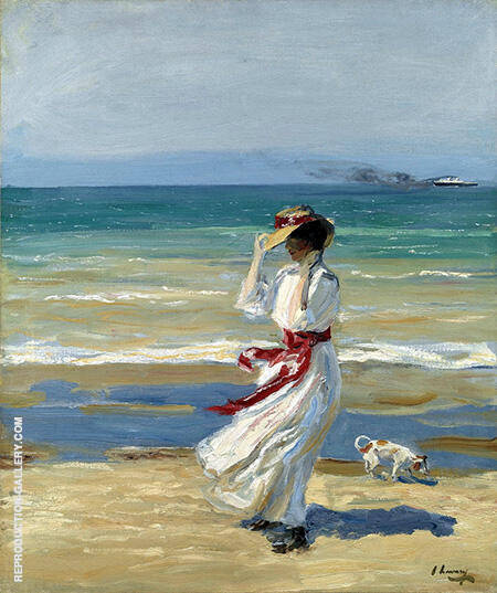 Reproduction of A Windy Day by John Lavery | Oil Painting Replica On CanvasReproduction Gallery
