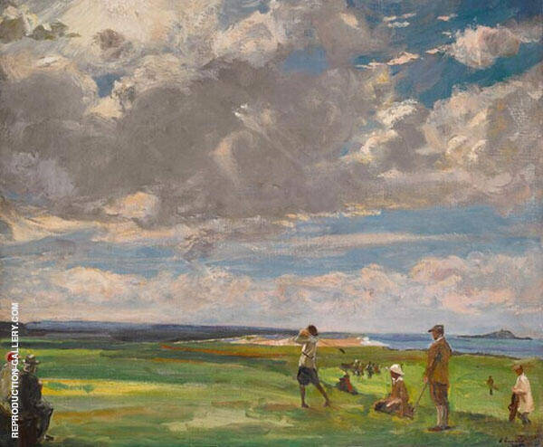 Golf Links at North Berwick Painting By John Lavery - Reproduction Gallery