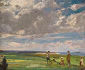 Golf Links at North Berwick By John Lavery