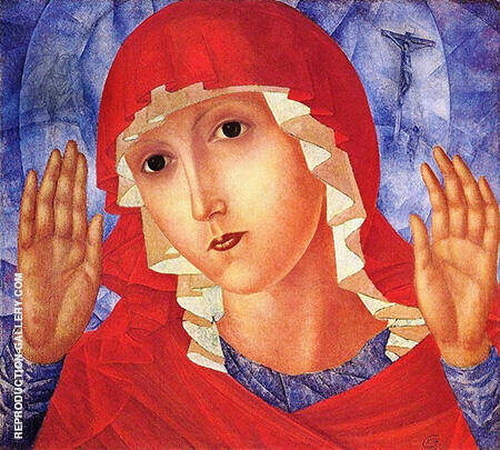 The Mother of God of Tenderness Towards Evil Hearts 1915 By Kuzma Petrov-Vodkin