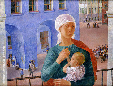 1918 A Petrogrado 1920 By Kuzma Petrov-Vodkin