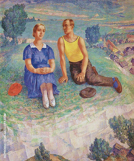Spring 1935 By Kuzma Petrov-Vodkin - Oil Paintings & Art Reproductions - Reproduction Gallery