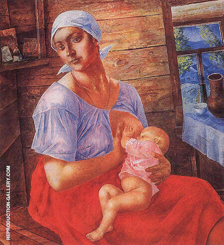 Mother 1915 By Kuzma Petrov-Vodkin