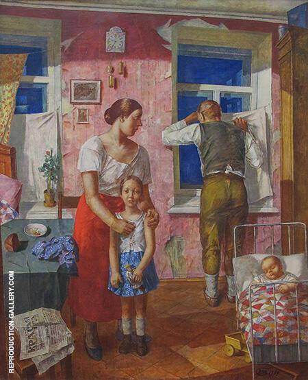 1919 Allarme ,1934 By Kuzma Petrov-Vodkin