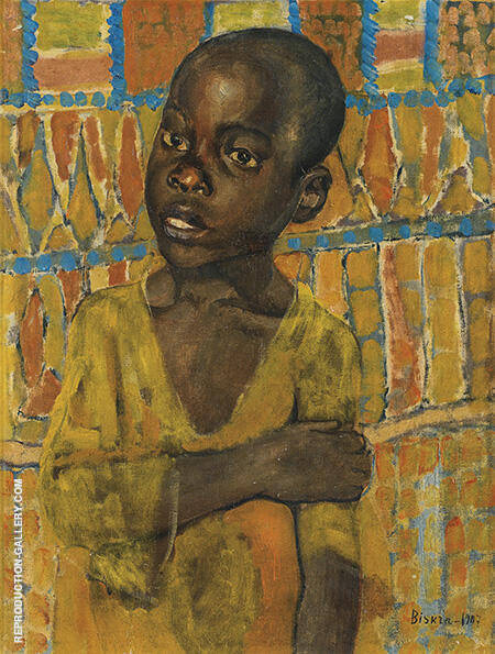 African Boy 1907 By Kuzma Petrov-Vodkin - Oil Paintings & Art Reproductions - Reproduction Gallery