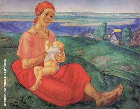 A Mother 1913 By Kuzma Petrov-Vodkin