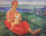 A Mother 1913 By Kuzma Petrov-Vodkin