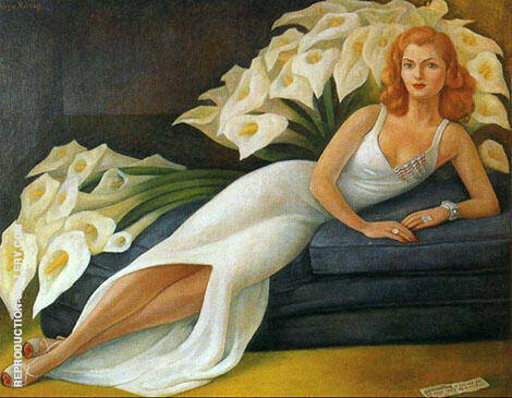 Portrait of Natasha Gelman By Diego Rivera