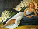Portrait of Natasha Gelman By Diego Rivera