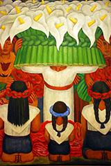 The Flower Festival Feast of Santa Anita By Diego Rivera