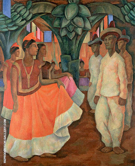Dance of Tehuantepec Painting By Diego Rivera - Reproduction Gallery