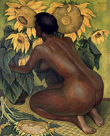Nude with Sunflowers By Diego Rivera