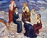 The Coast 1908 By Kuzma Petrov-Vodkin